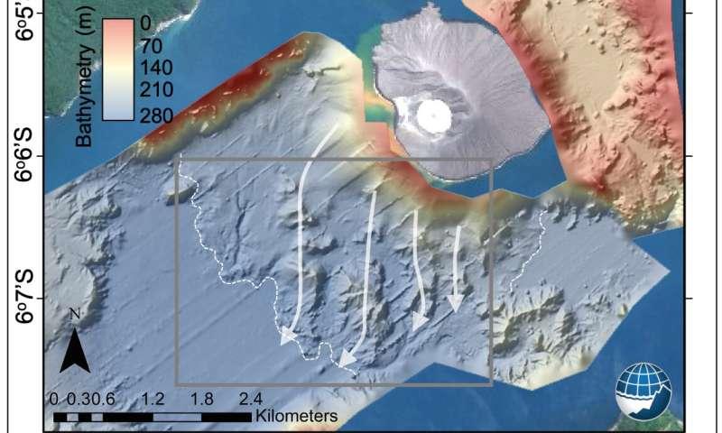Megablocks on the seafloor reveal that half of Anak Krakatau island collapsed causing the 2018 Sunda Strait tsunami