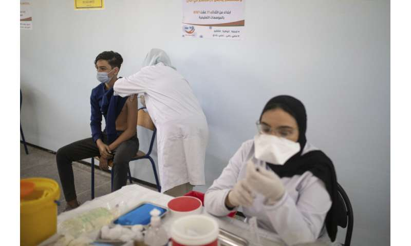 Morocco starts vaccinating children ages 12 to 17