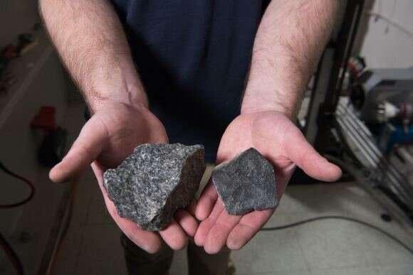 NASA ballistic air gun hurls rocks at space suits to test their micrometeorite protection
