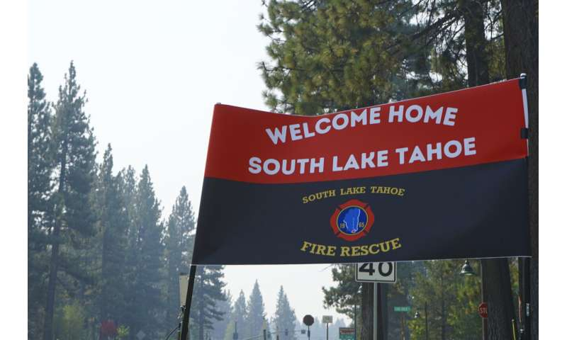 Official: Wildfire near Lake Tahoe largely kept from towns