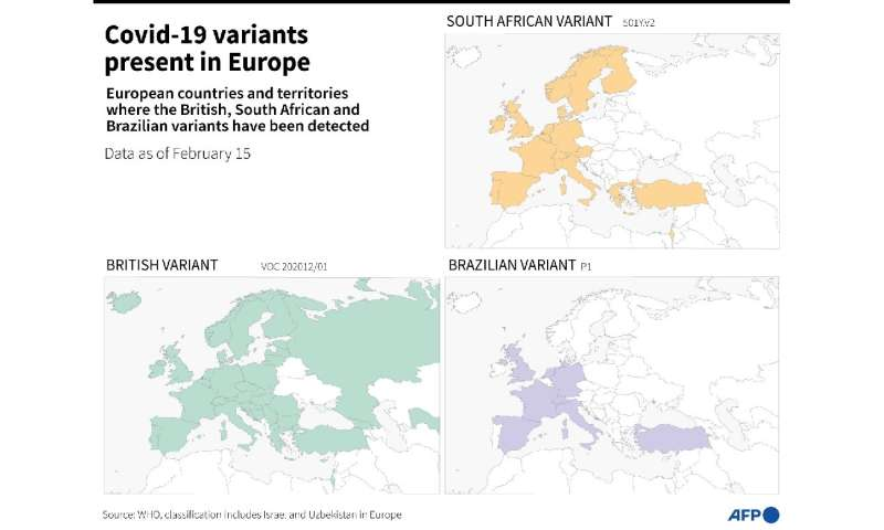 Of the current known variants, three are particularly worrying: those initially detected in southeast England, South Africa and