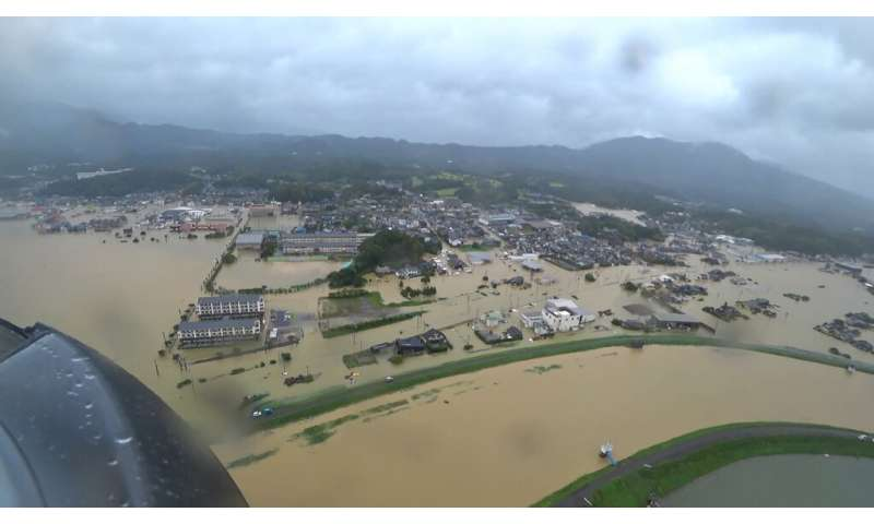 Scientists say climate change is intensifying the risk of heavy rain in Japan and elsewhere