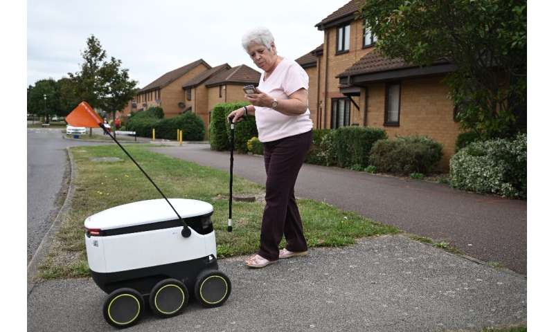 Sheila Rose said the robots have been a 'godsend'as she finds it difficult to get to the shops