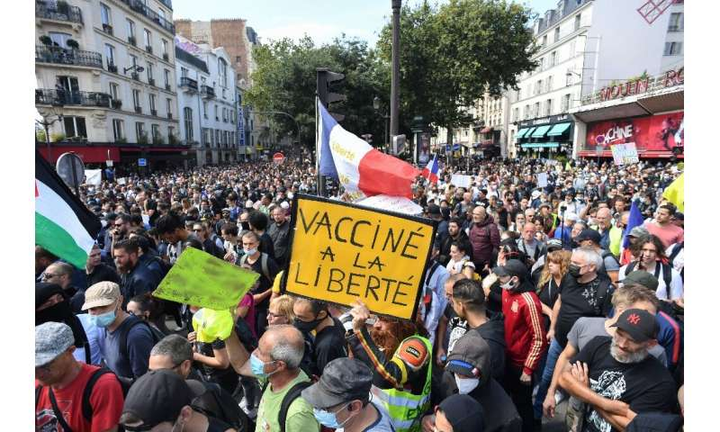 Tens of thousands protested across France for a third straight weekend