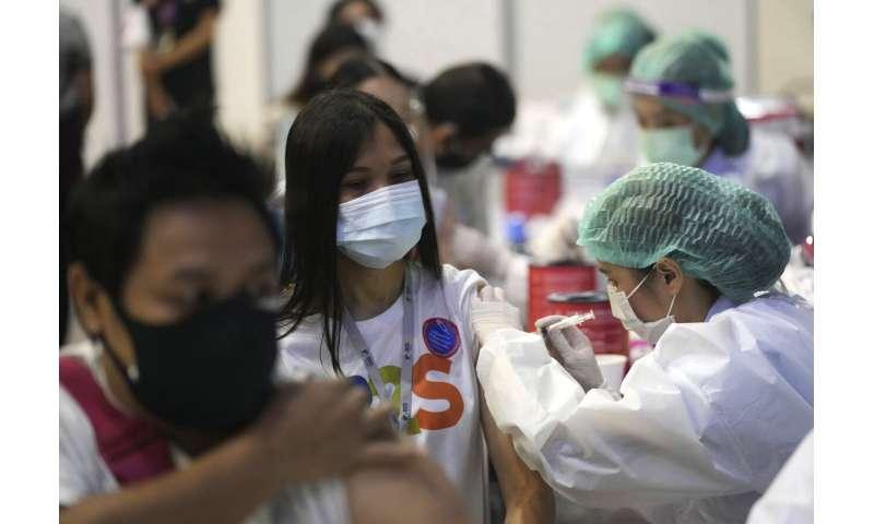Thailand reports record virus cases; Bangkok eases lockdown