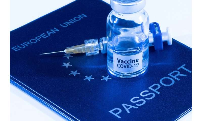 The certificate will show the bearer's vaccination status, or whether they have immunity from a Covid infection they have recove