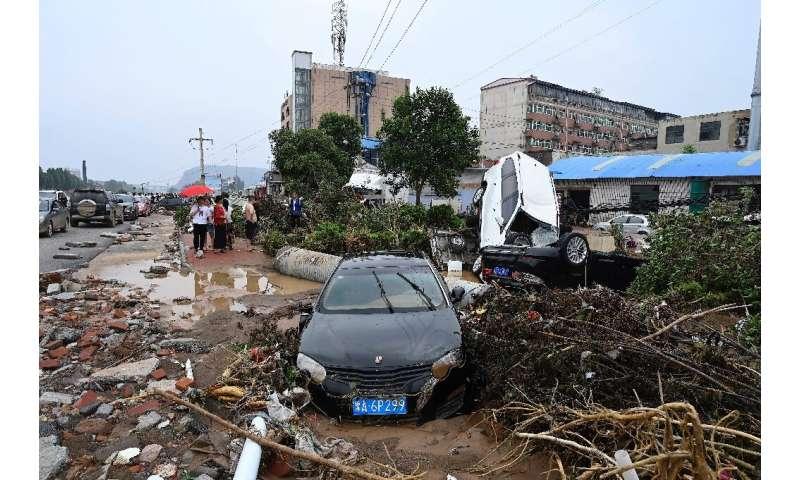 The floods have left a trail of destruction