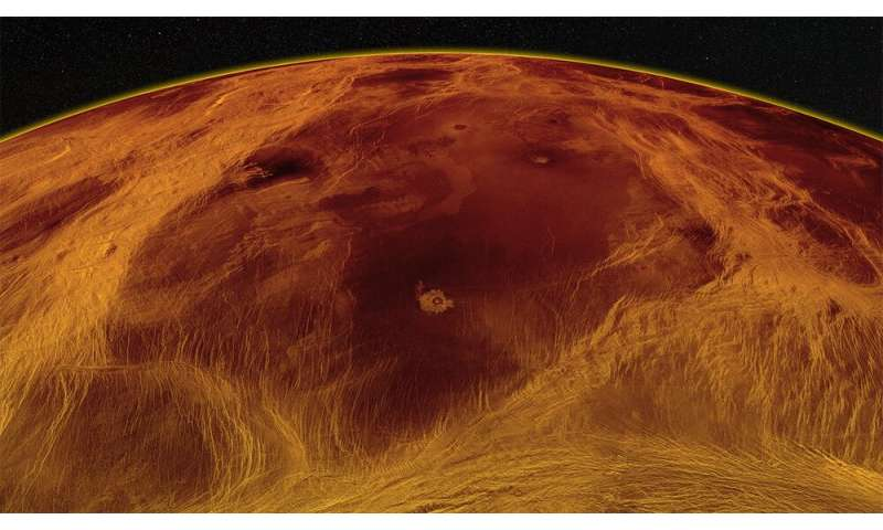 The surface of Venus is cracked and moves like ice floating on the ocean – likely due to tectonic activity