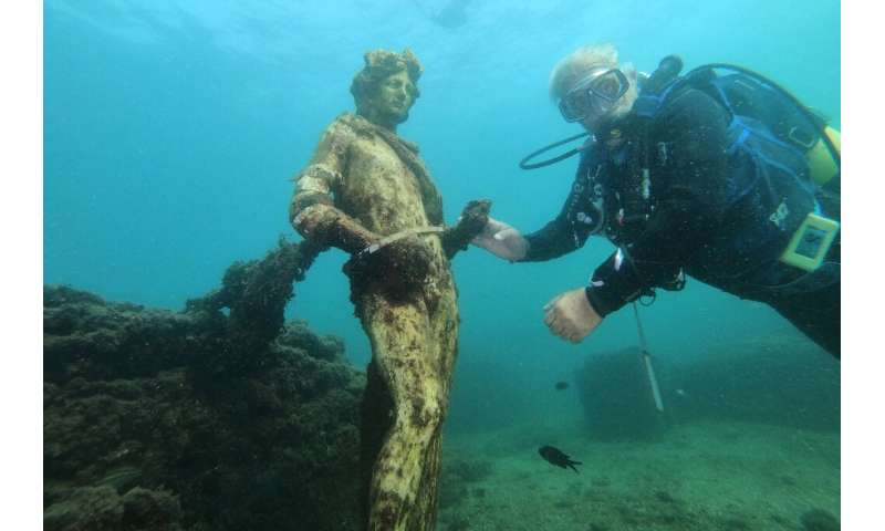 The underwater site has been a protected marine area since 2002 anddivers must be accompanied by a registered guide