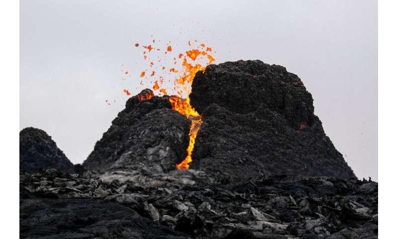 The volcano lies just 40 kilometres west of Reykjavik