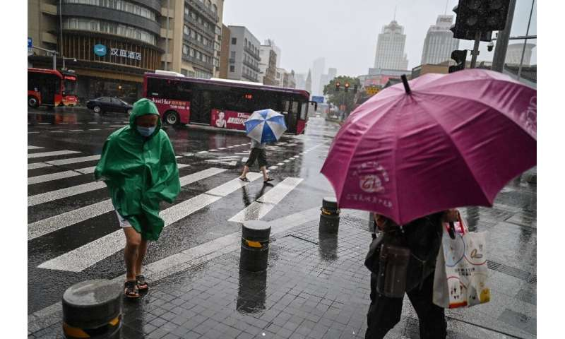Typhoon In-Fa is expected to make landfall near Ningbo on Sunday