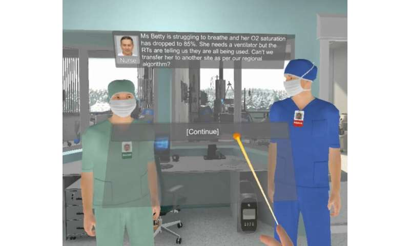 Virtual reality helps unmask impact of moral distress on health-care workers during the pandemic