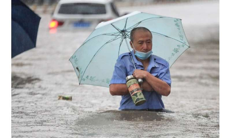 Zhengzhou, at the centre of this week's torrential downpours, saw an average year's worth of rain in just three days