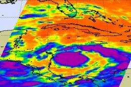NASA satellites see Tropical Storm Matthew grow quickly, warnings up in Central America