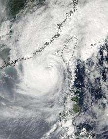 NASA satellites see Typhoon Megi poised for southeastern China landfall