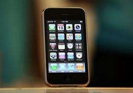 The iPhone 3Gs is displayed at an Apple store in 2009