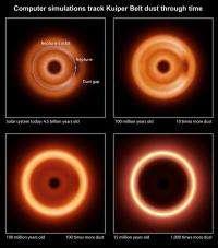 Dust models paint alien's view of the solar system