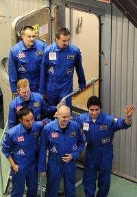 Members of the Mars500 crew