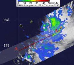Tropical Depression 11S forms in the southern Indian Ocean