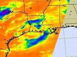 NASA satellites see TD5's remnants still soaking Louisiana and Mississippi