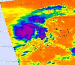 NASA infrared imagery sees tropical depression 14 becomes 12th tropical storm: Lisa