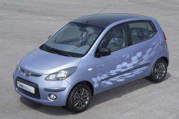 Hyundai Motor unveiled South Korea's first full-speed electric car