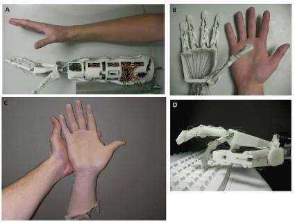 Robotic hand nearly identical to a human one