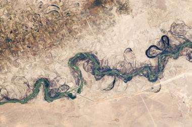 Syr Darya River Floodplain captured