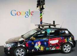 "A Google ""Street View"" car"
