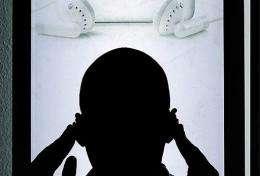 A man listens to online music