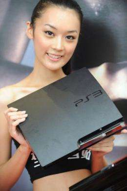 A model holds the latest Playstation 3