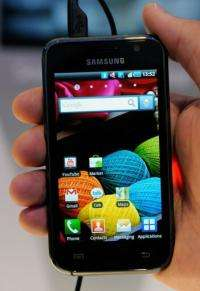 A new Samsung Galaxy S Android smartphone