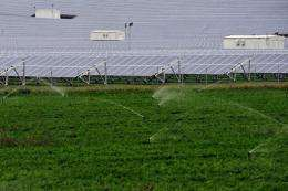 A solar farm in Asopia, some 100 northeast of Athens
