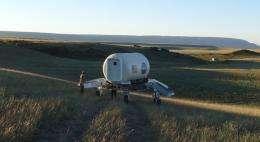 ATHLETE rover steps up to long desert trek
