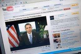 A video of US President Barack Obama