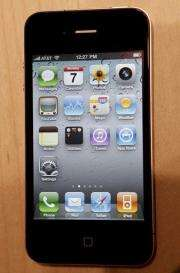A view of the new iPhone 4