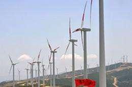 A wind farm in Melloussa