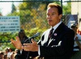 California governor Arnold Schwarzenegger