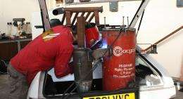 Carpuccino's fuel tank. (Image via Daily Mail)