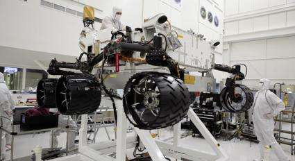 Curiosity Spins Its Wheels