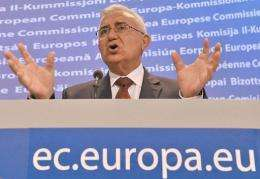 EU commissioner for Health and Consumer Policy John Dalli gives a press conference on the new policy for GMO cultivation