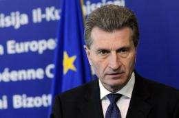 European Union Commissioner for Energy Gunther Oettinger