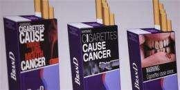 Feds propose graphic cigarette warning labels (AP)