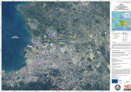 First satellite map of Haiti earthquake