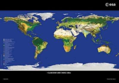 Latest map of world's land cover unveiled by ESA