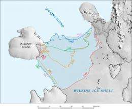 Ice shelves disappearing on Antarctic Peninsula