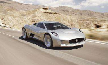 Jaguar's new electric concept supercar -- the C-X75