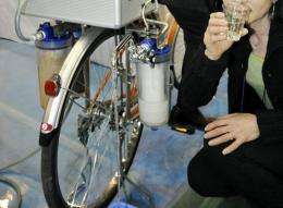 """Japanese water purifier venture Nippon Basic displays portable water purifying system """"Cycloclean"""""""