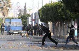 Jobless youths in Tunisia riot using Facebook (AP)