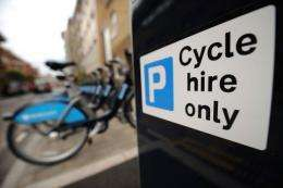London Cycle Hire bicycles